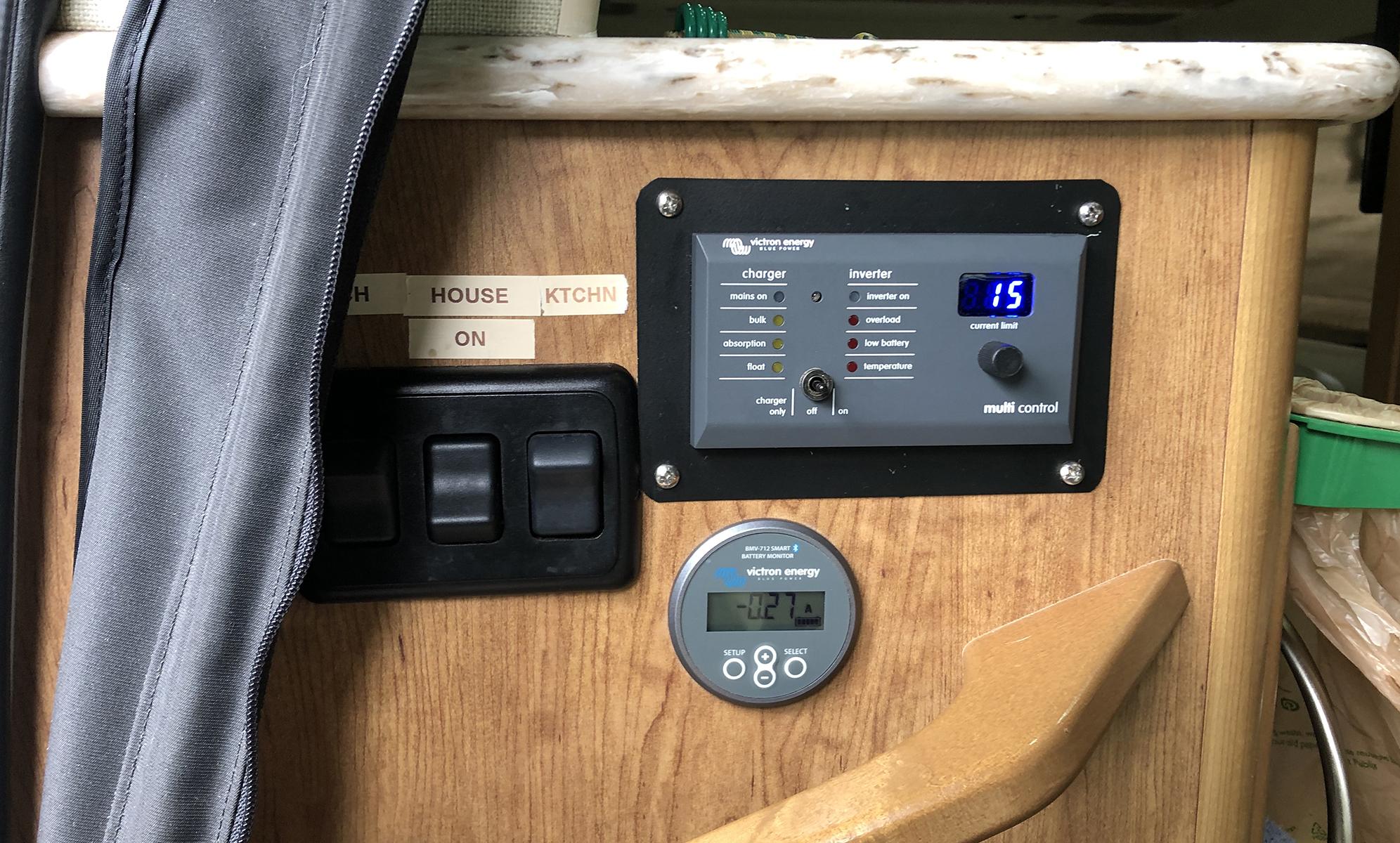 Lithium Battery Victron Battery Monitor Van