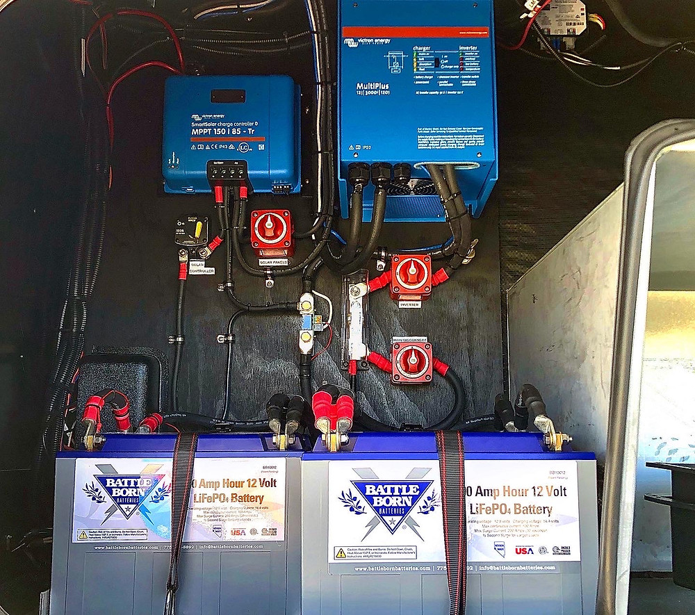 Battleborn Lithium Batteries Victron Inverter Off Grid Boondocking 5th Wheel RV