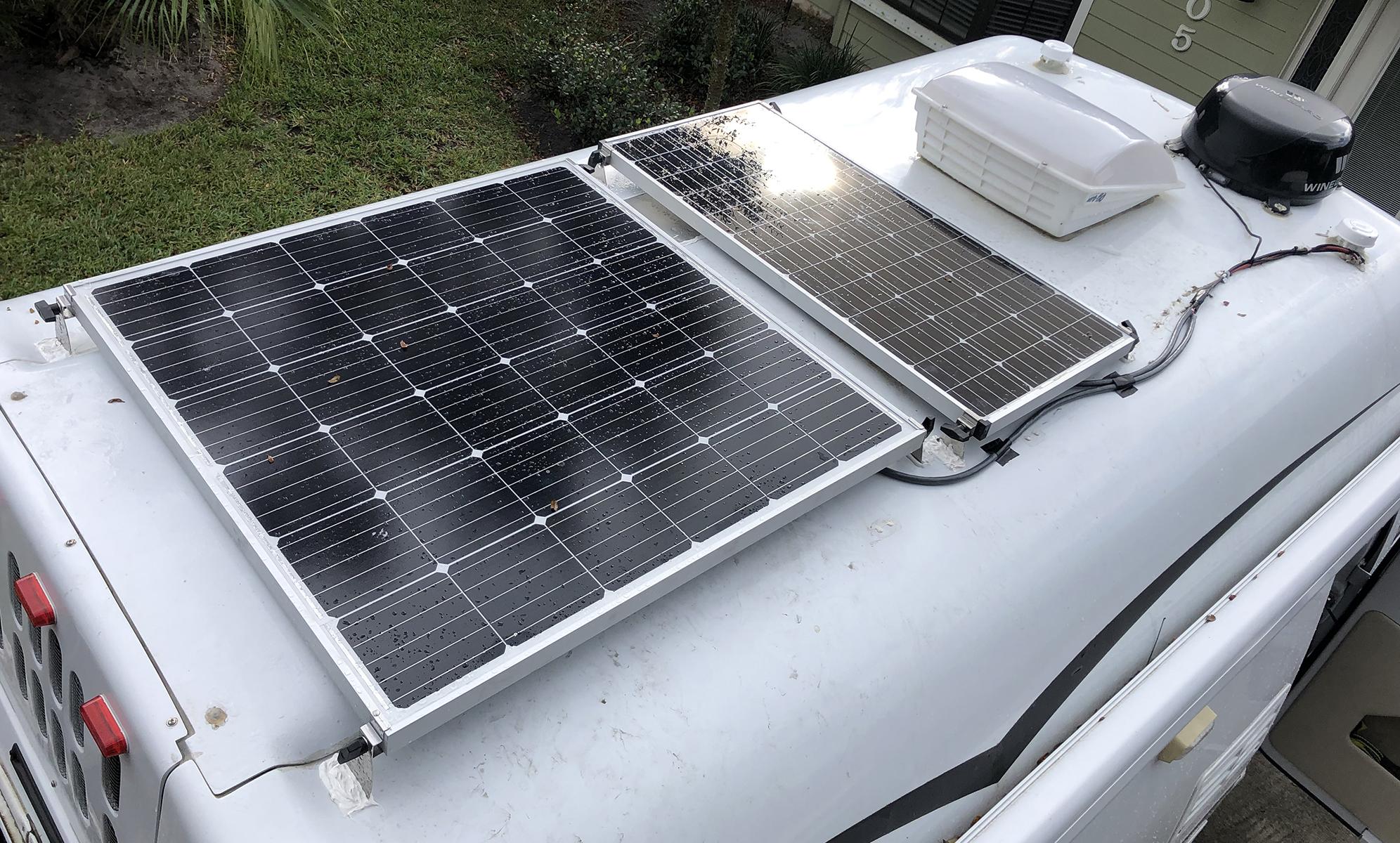 Solar Panels Off The Grid Camper Pleasure Way Van Boondocking
