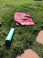 Yoga Mat on the Field