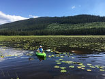 Bryan Bonnamour Kayaking on Rioux Lake
