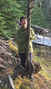 Vix Meyer by a Tree at Deube Lake