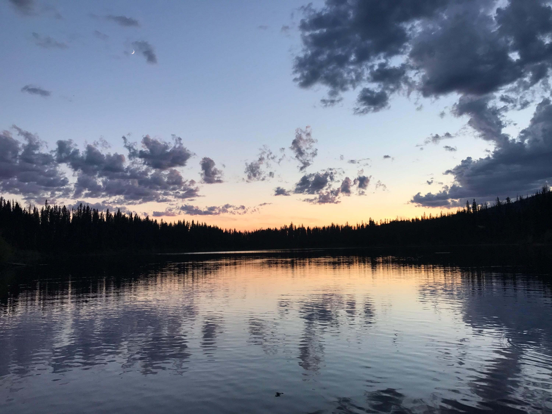 Sunset Over Duebe lake