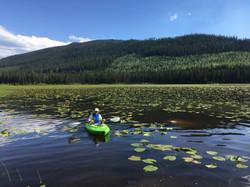 Kayaker on Rioux Lake