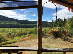Rioux Lake from the Deck
