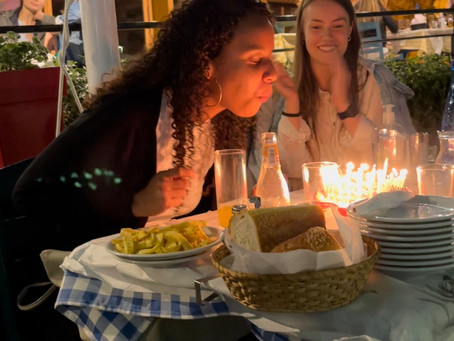 The welcoming and birthday night