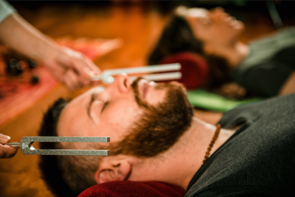 AA Tuning Fork on Bearded Man shuttersto