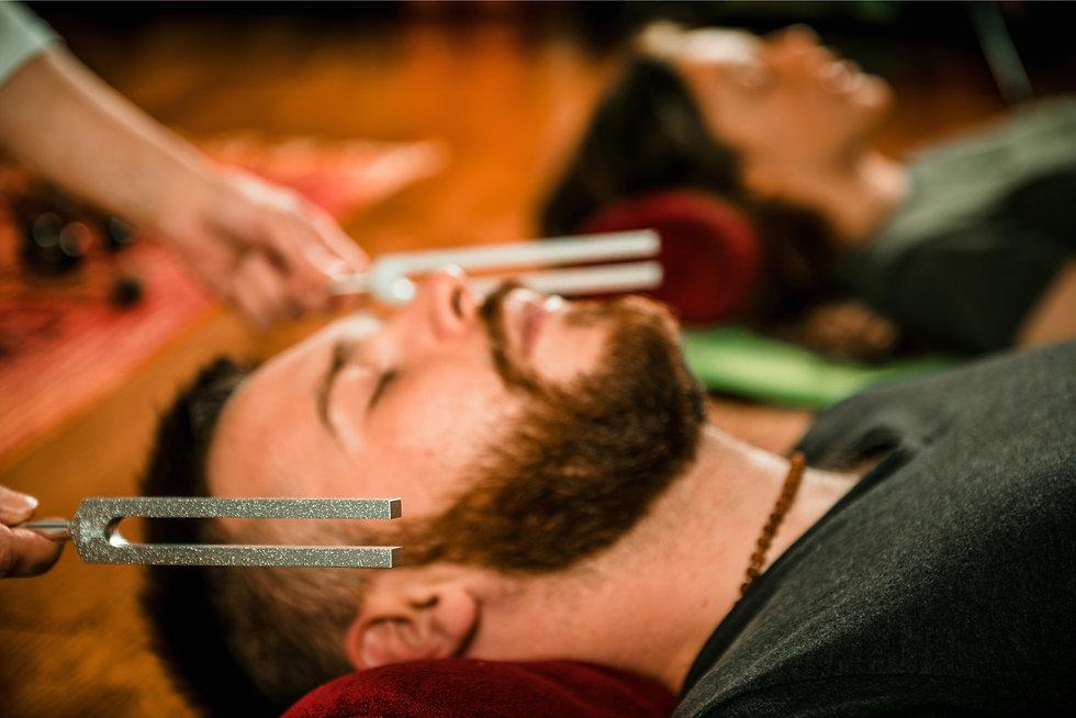 AA Tuning Fork on Bearded Man shuttersto