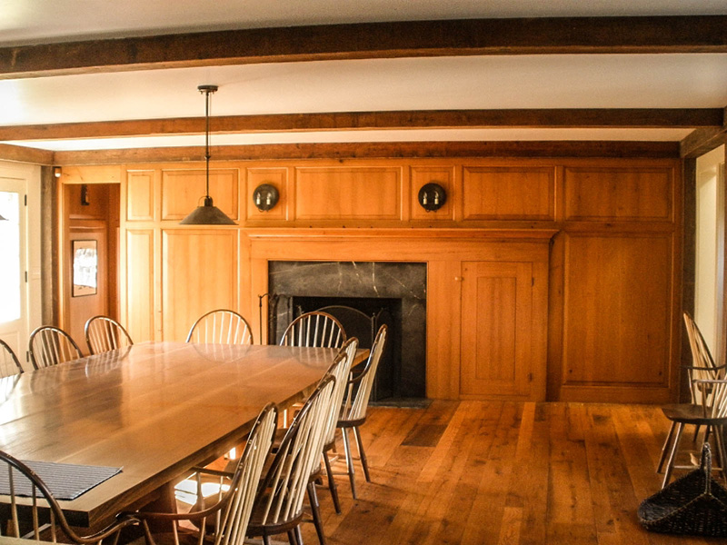INTERIOR PANELING AND FAUX BEAMS