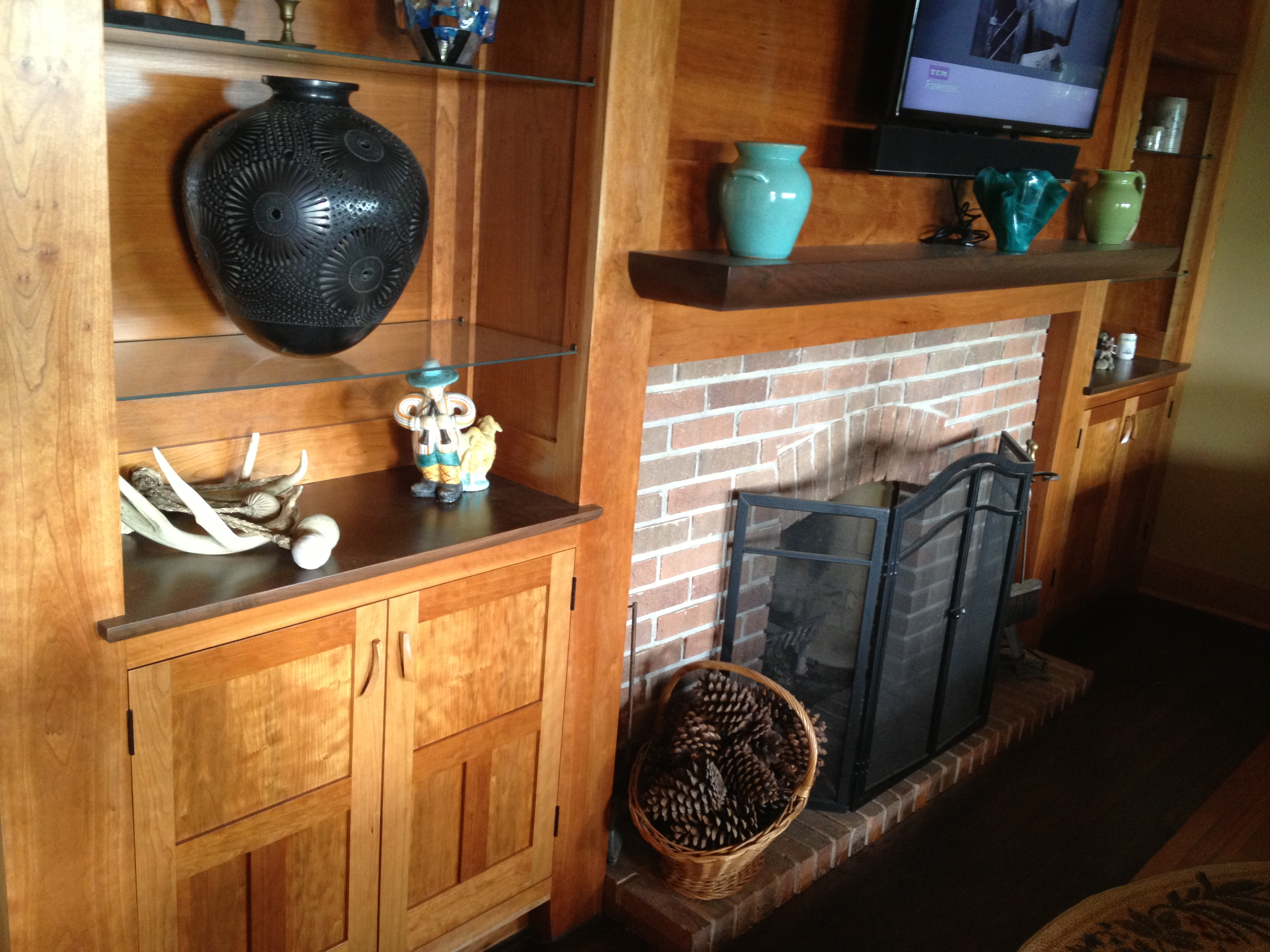 FAMILY ROOM CABINETS AND MANTEL