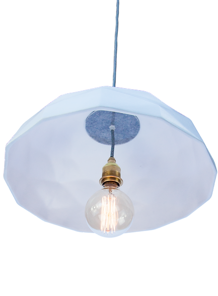 Quilted Ceramic Pendant Light - Sebastian Damm Design Studio