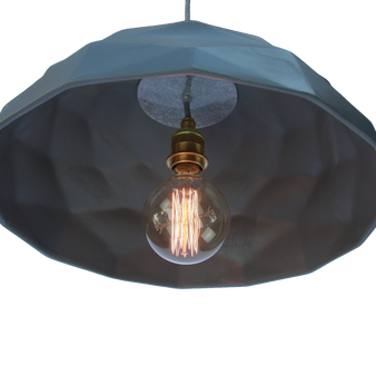 Quilted Ceramic Pendant Light
