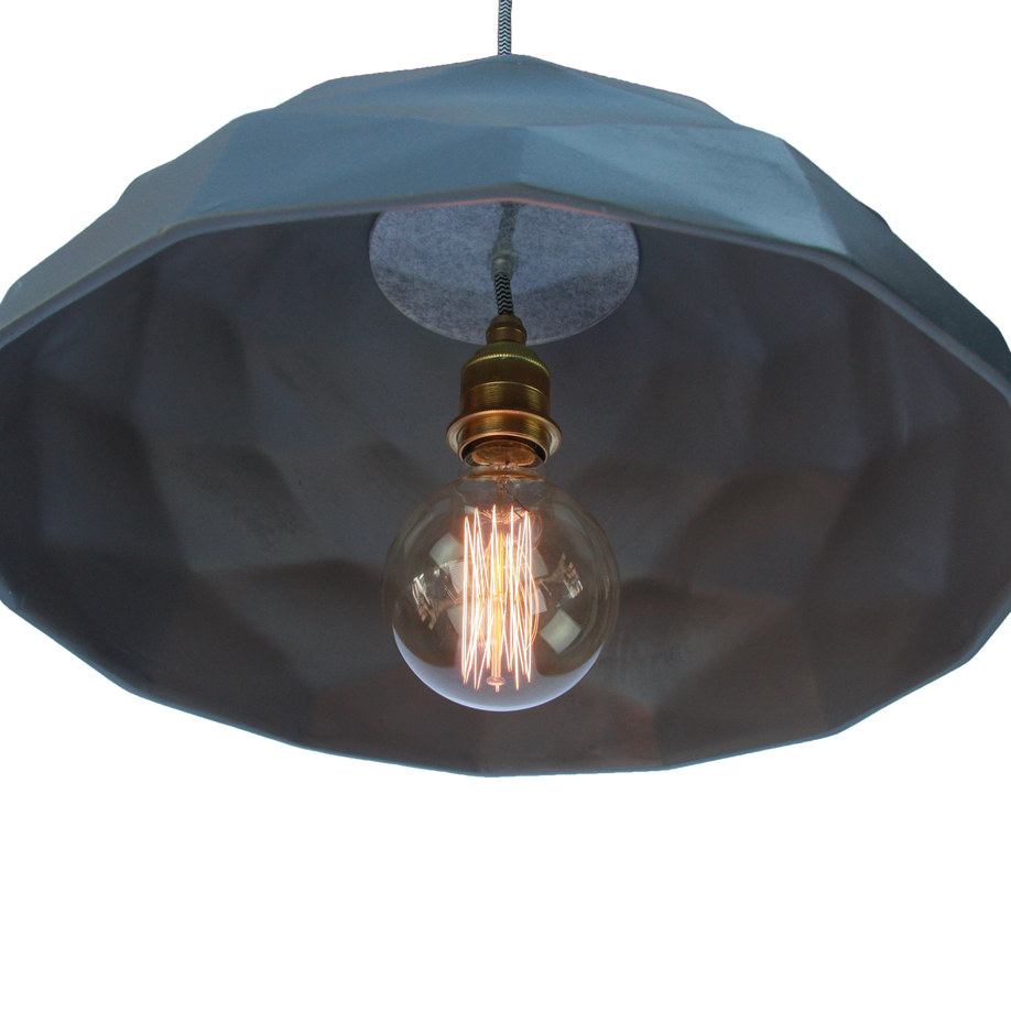 Quilted Ceramic Pendant Light