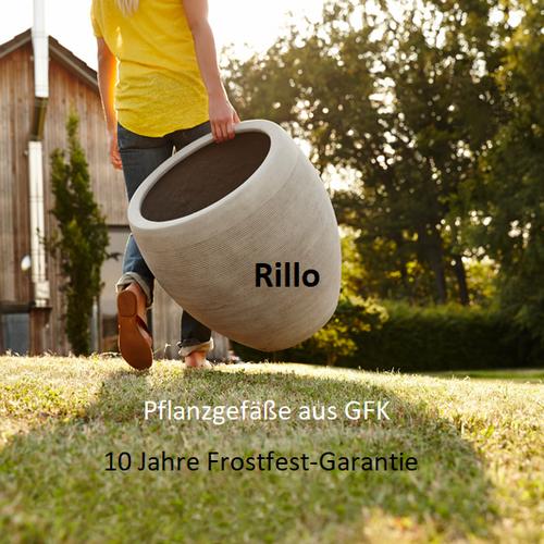 Pflanzgefäße Rillo betonfarben