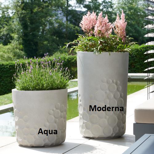 Pflanztöpfe Aqua und Moderna betonfarben