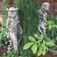 Gartenfiguren Steinguss Diana und Helena