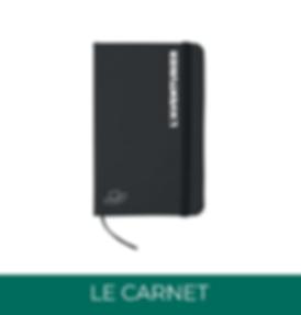 Carnet personnalisé welcome pack