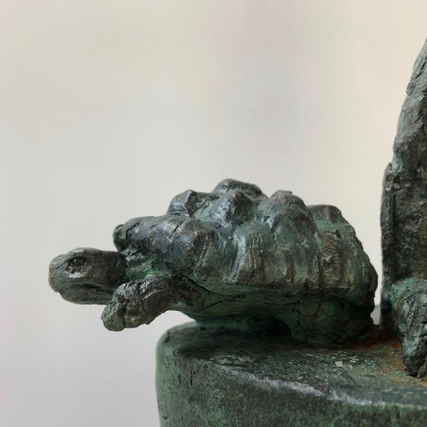 Aesop's tortoise, detail