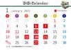 1月GiGiカレンダー