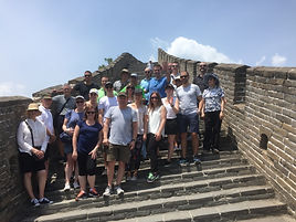 Colleagues enjoying their visit to the Great Wall