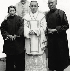 Bishope Galvin and a Chinese priest