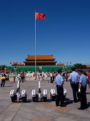 Segways on Tiananmen Square