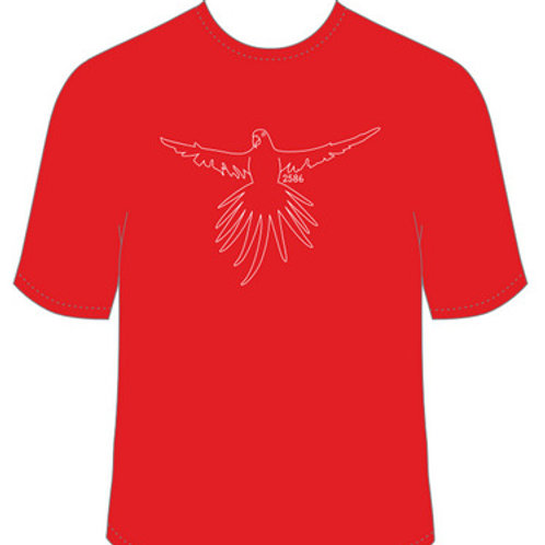 Boorowa's own Superb Parrot red t-shirt