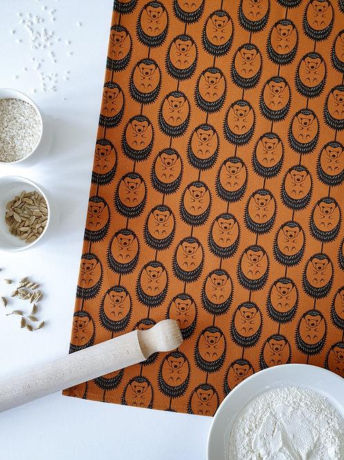 Hannah Issi Terracotta Hedgehog Tea Towel