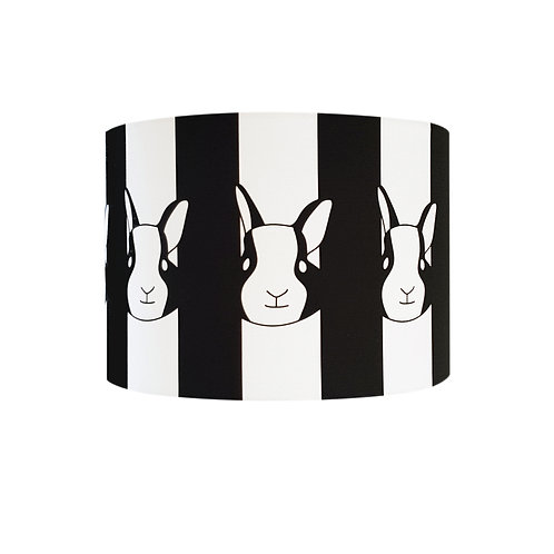 Black and white animal lampshade: 'Rabbit (ceiling) Lampshade' by Hannah Issi - Nursery/kids bedroom/Modern home decor