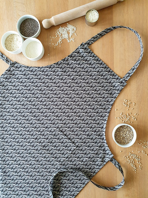 Hannah Issi Grey Magpie Apron
