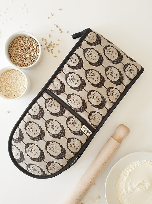 Hannah Issi Grey Hedgehog Oven Gloves