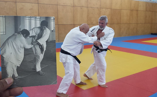 Judo players then and now