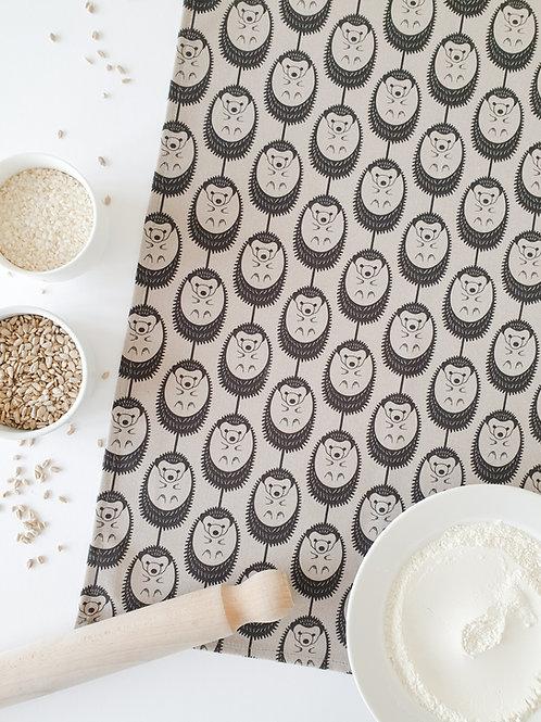 Hannah Issi Grey Hedgehog Tea Towel