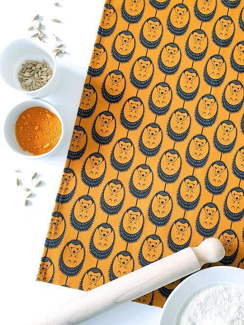 Hannah Issi Marigold Hedgehog Tea Towel