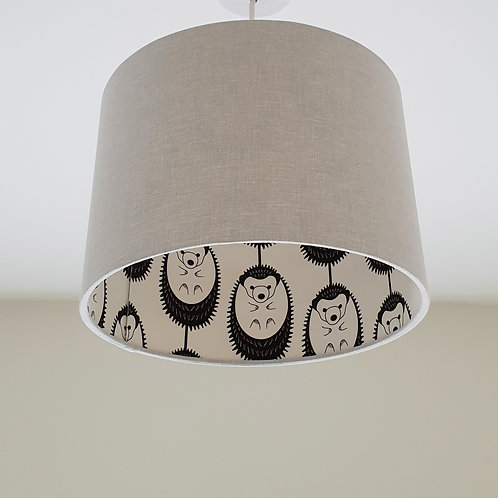 GREY DOUBLE-SIDED HEDGEHOG LAMPSHADE