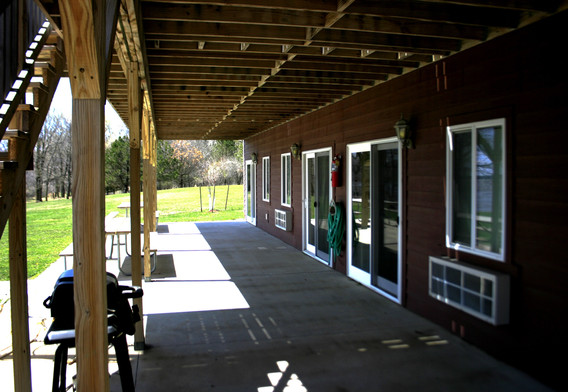 Patio outside lower 4 rooms