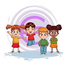 dessin-anime-saut-enfants-heureux_18591-