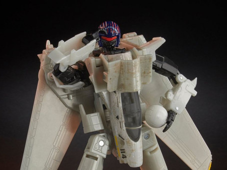 Hasbro continues the pulp culture infusion of Transformers with Top Gun bot