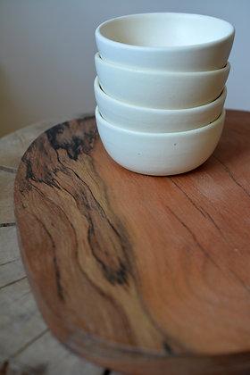 TABLA ROBLE + 4 MINI BOWLS CREMA