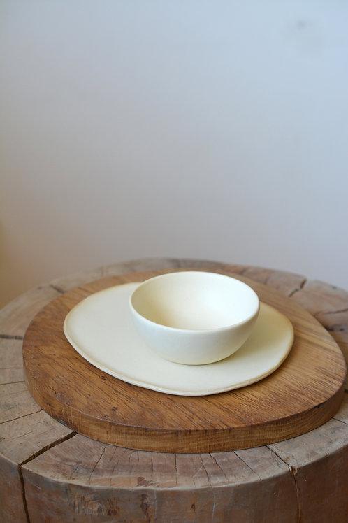 SET BOWL Y PLATO / TABLA CASTAÑO