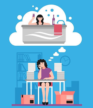 woman-wishing-to-relax-flat-illustration