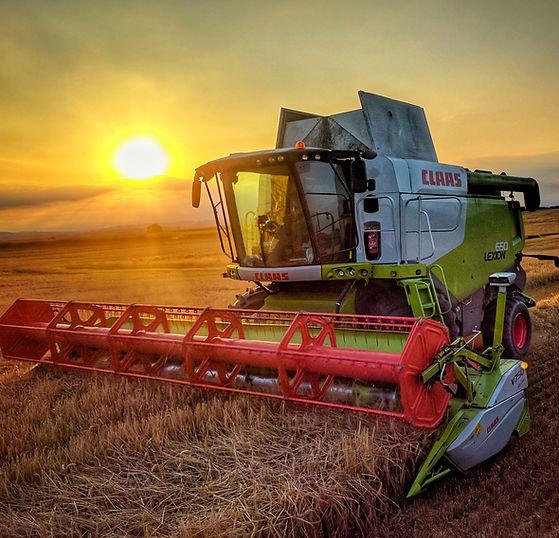 claas lexion 650 combine cutting barley