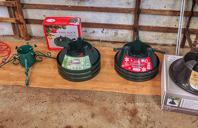 a range of christmas tree stands