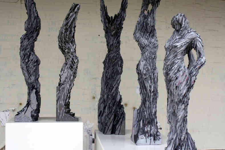 sculpture in stone Diana Nooten Art