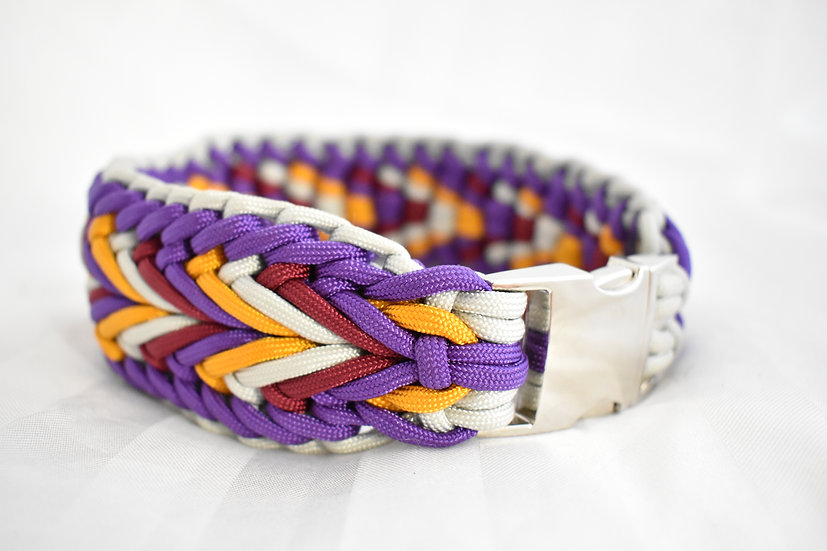 Double Elevated Crossed Purple - extra wide