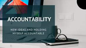 Holding myself accountable