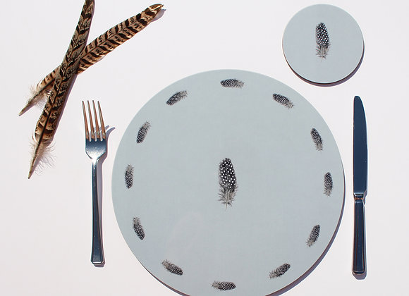 Guinea Fowl Feather Placemats