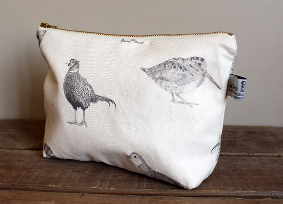 Game Birds Cosmetic Bag