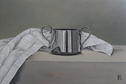 Silver Pot & Linen Cloth