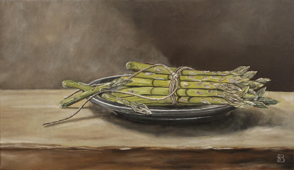 Asparagus & Pewter Plate